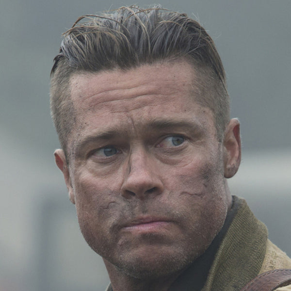 How To Get The Brad Pitt Fury Haircut Regal Gentleman