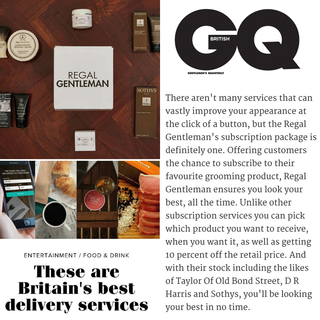 Regal Gentleman GQ Best Subscription Service