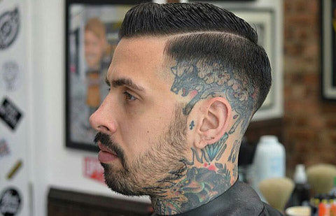 Hair cuts with tattoos | Tattoos for men | Hair cuts for men