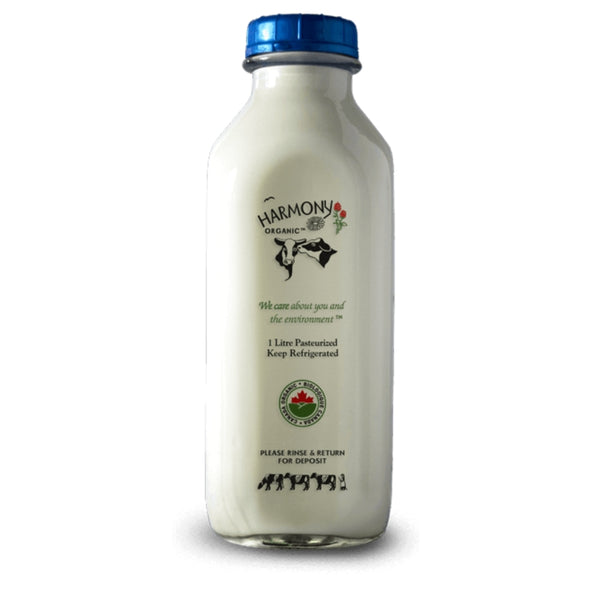ORGANIC 2% MILK-1 LITRE GLASS