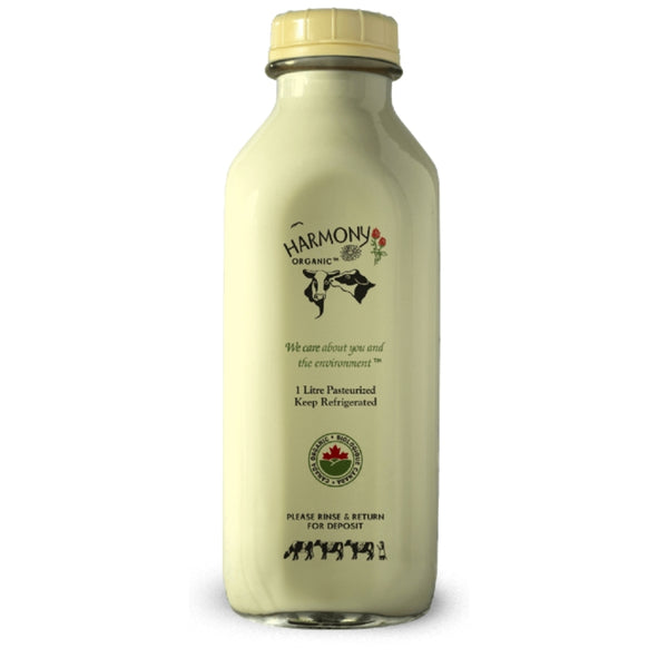 ORGANIC EGG NOG - 1 LITRE GLASS