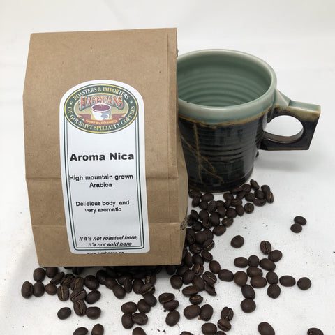 Aroma Nica - Direct Trade classic medium with balanced acidity.