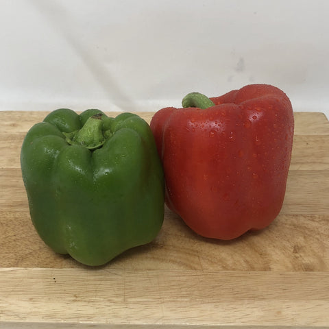 Peppers - 2 pack 1 green, 1 red