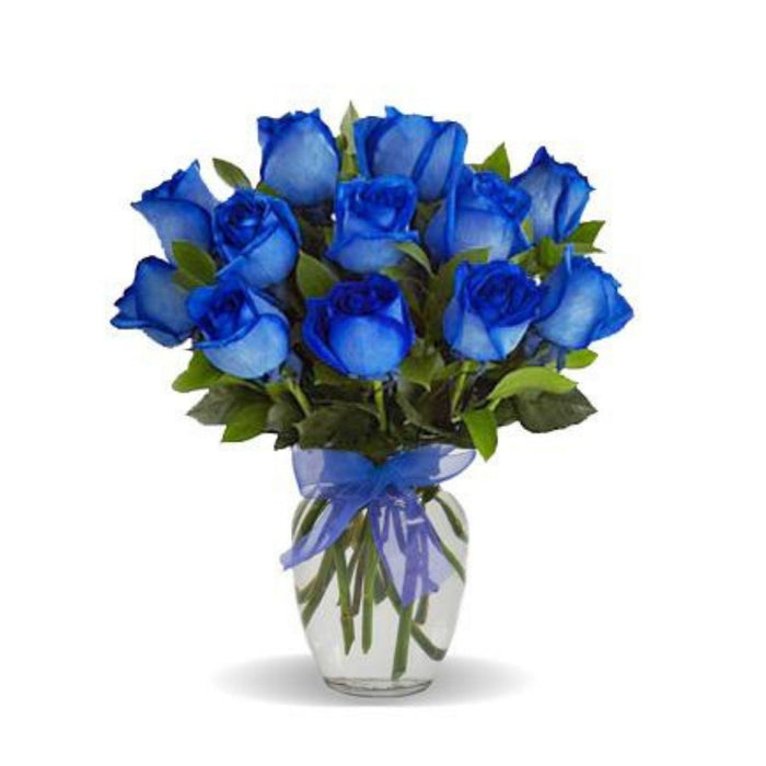 Bold Blue Roses in Love