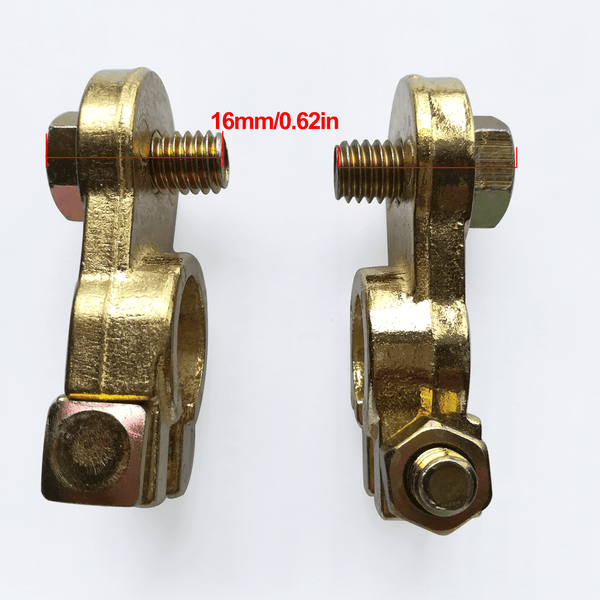 Top Post Battery Terminal Clamp Positive & Negative Brass Connectors - Cohomer