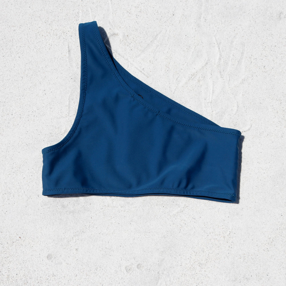 Load image into Gallery viewer, Taylor One Shoulder Bikini Top, Blue