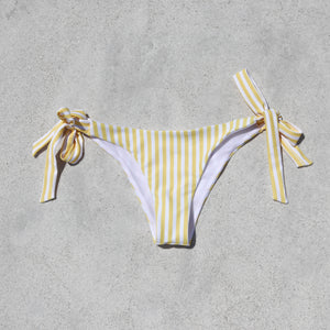 Load image into Gallery viewer, Isabella Bikini Bottom, Yellow Stripe