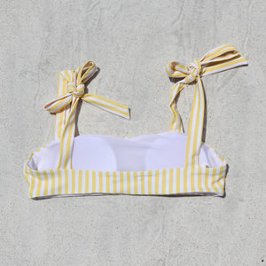Load image into Gallery viewer, Isabella Bikini Top, Yellow Stripe