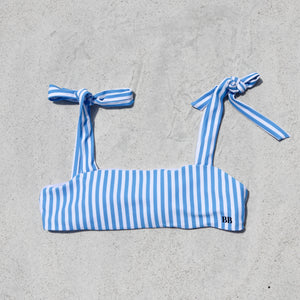 Load image into Gallery viewer, Isabella Bikini Top, Blue Stripe