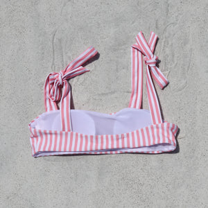 Load image into Gallery viewer, Isabella Bikini Top, Pink Stripe