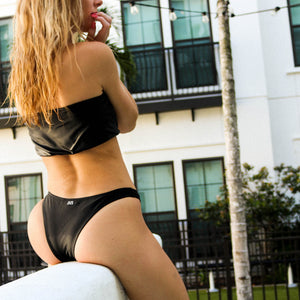 Load image into Gallery viewer, Kylie Cheeky Bikini Bottom, Black