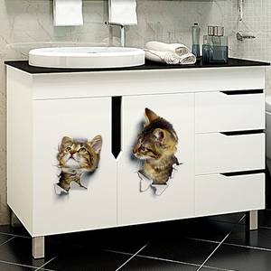 3D Cats Stickers-3PCS