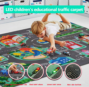 Baby LED Toy Car Play Mat