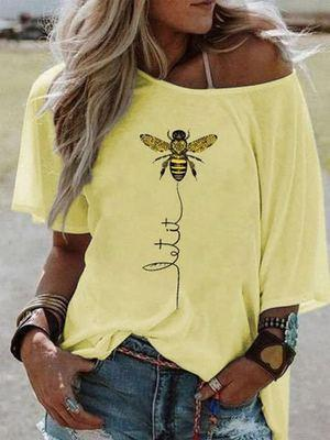 (50% OFF!!!)Bee design aesthetic short sleeve