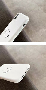 Zwart/Wit iPhone Hoesje Met Smiley