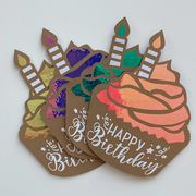 Cupcake Happy Birthday Gift Card Holder 4-Pack