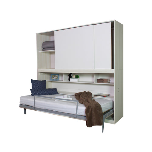 WALL BED WITH STORAGE CABINET (5399908974753)