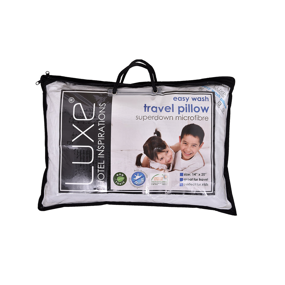 Luxe Easy Wash TRAVEL Pillow