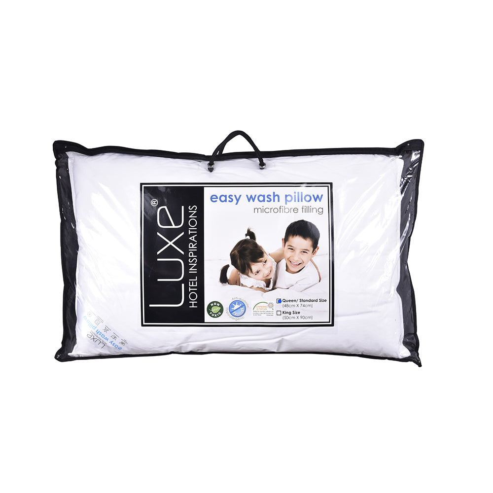 Luxe Easy Wash Pillow- QUEEN/ STANDARD (5498945241249)