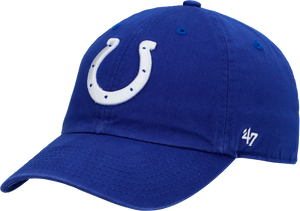 INDIANAPOLIS COLTS MENS '47 BRAND HORSESHOE CLEAN UP BLUE