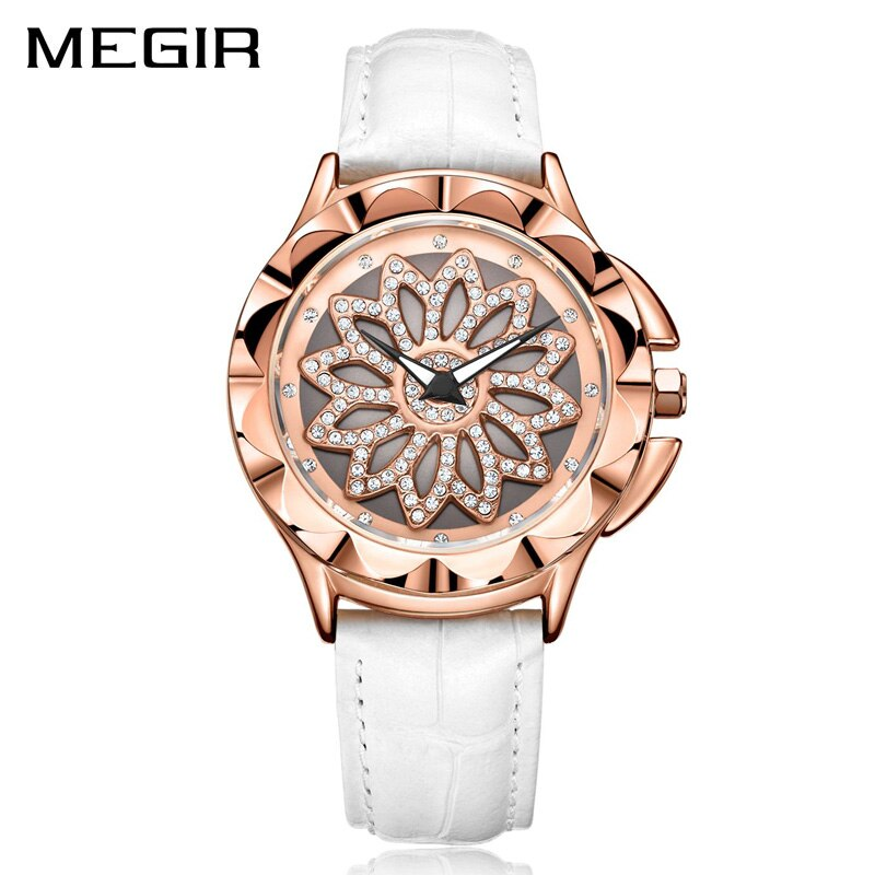 Women Rotated Dial Clock Luxury Quartz Wrist Watches