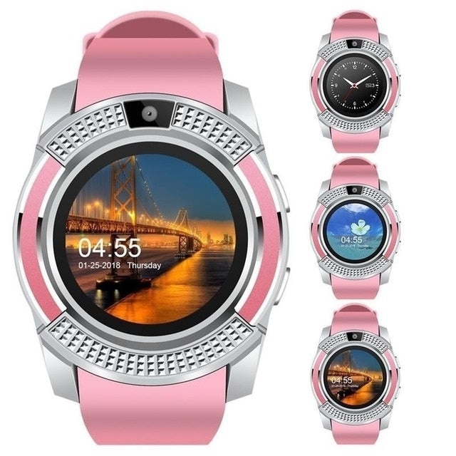 V8 Smart Watch For Men and Women Bluetooth Sport Watches