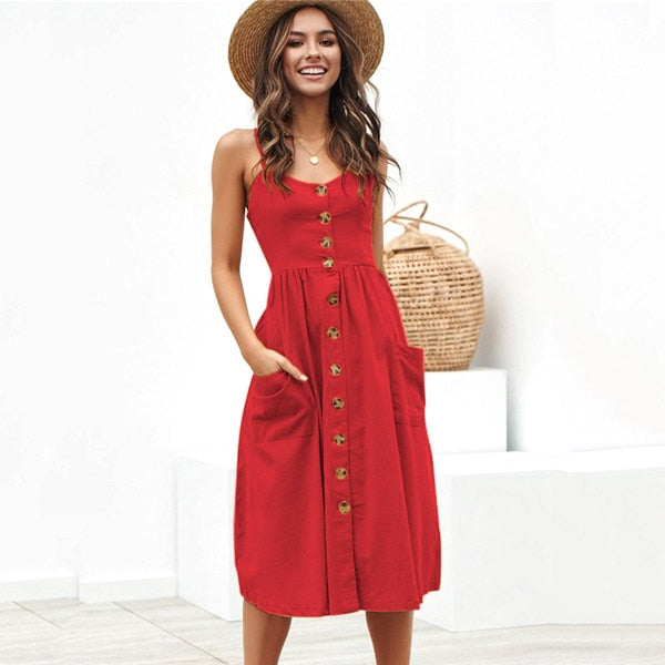 Sexy Party Boho Sundress Women Summer Dress