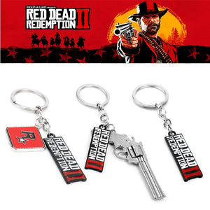 Game Trinket Red Dead Redemption 2 Keychain Gun Model Pendant Key Ring