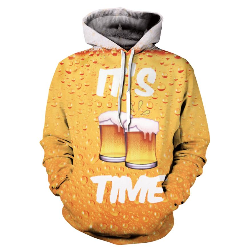 Hoodies Beer Full Print 3d Sweatshirts For Men Women