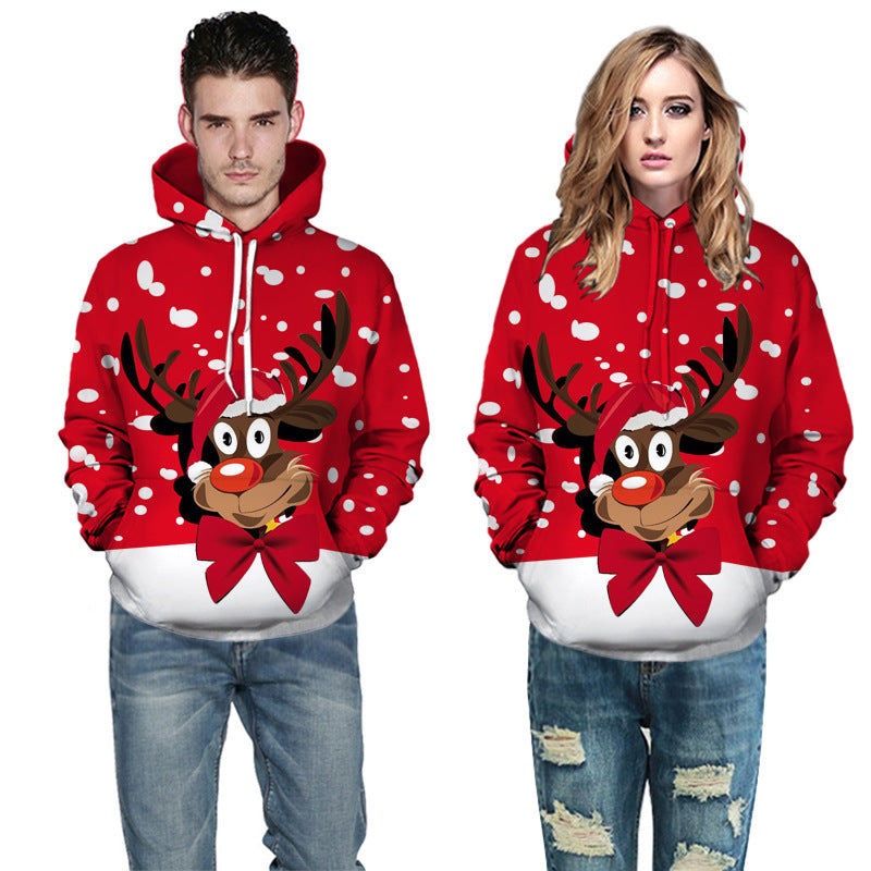 Christmas Snowman 3D Printing Unisex Men Women Santa Claus Christmas Sweater