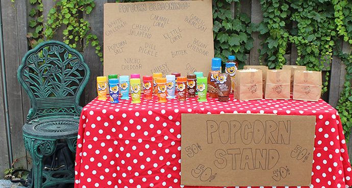 DIY End of Summer Popcorn Stand