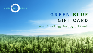 Green Blue gift card: Eco-living, happy planet
