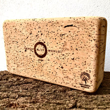 Load image into Gallery viewer, Green Blue World standard yoga brick. Premium yoga accessories, made by artisans from a regenerative forestry project, for the eco-living yogi.