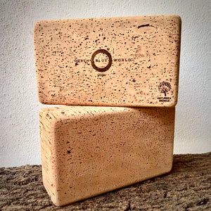 Green Blue World standard yoga brick. Premium yoga accessories, made by artisans from a regenerative forestry project, for the eco-living yogi.