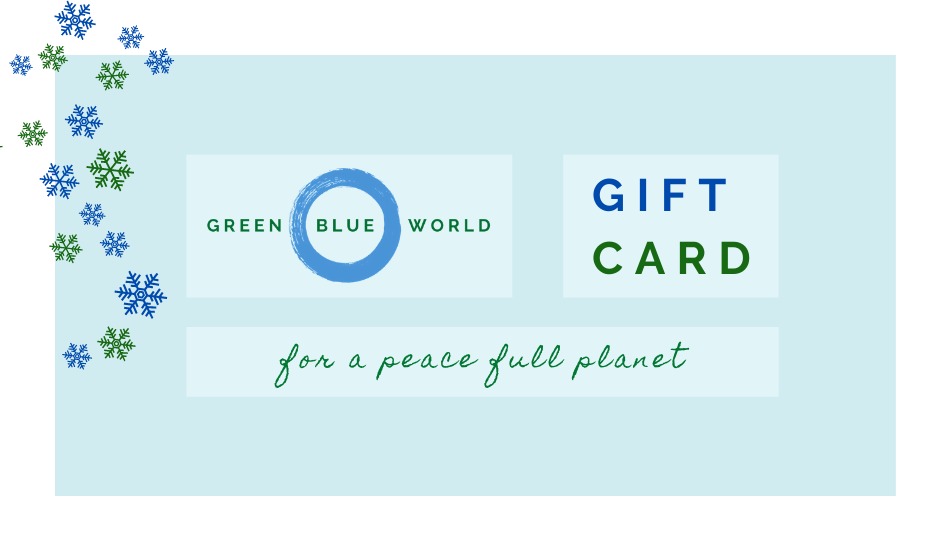Christmas gift card, for a peace full planet. Yoga gift ideas, kitchen gifts, natural cosmetics gifts, and more.