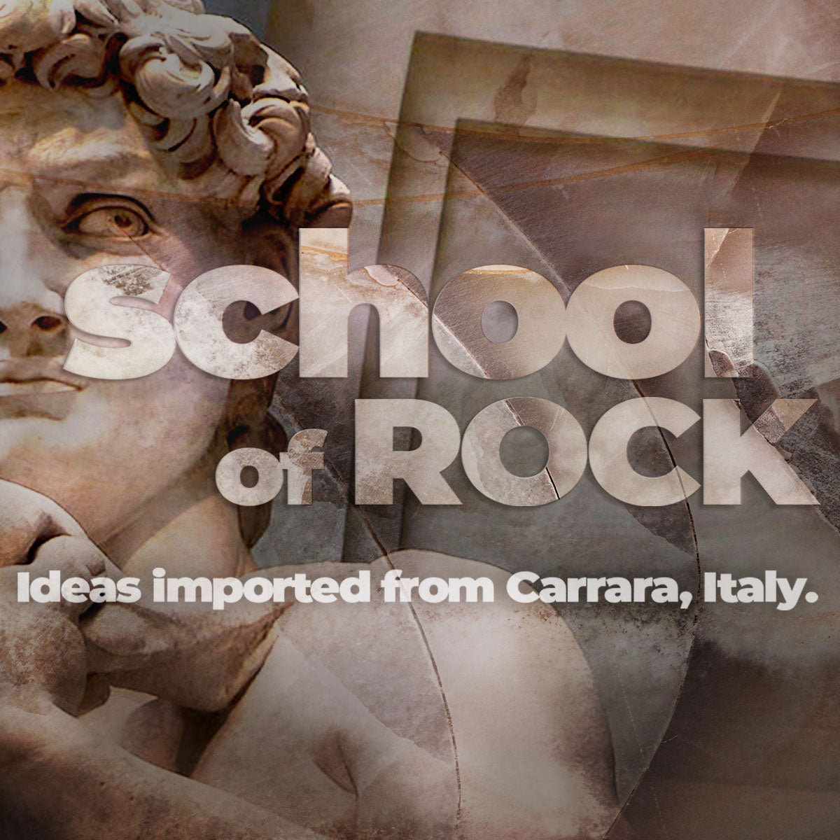 School of Rock Collection - Ideas imported from Carrara, Italy.