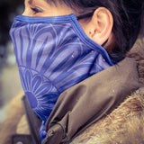 Foulard-masque de protection BLEU