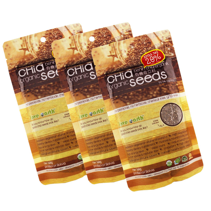 Love Earth Organic Chia Seeds 168g