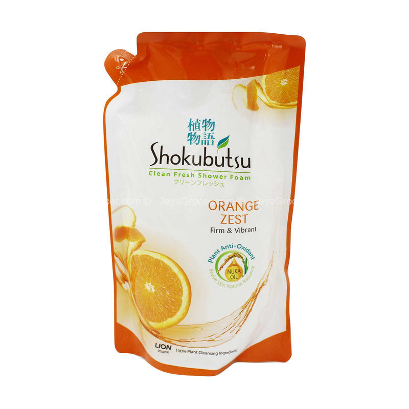 Shokubutsu Orange Peel Sensation Shower Foam Refill Pack 550g