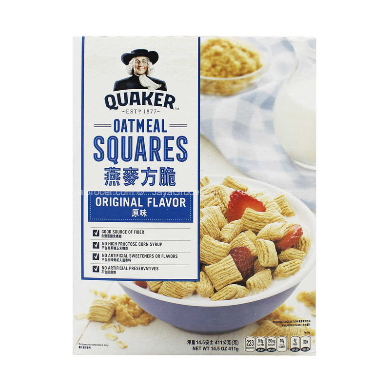 Quaker Oatmeal Square Cereal 412g