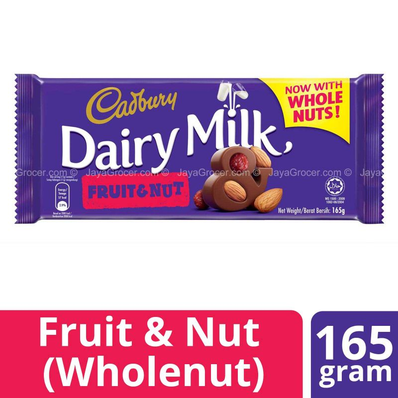Cadbury Dairy Milk Fruits & Nuts Chocolate Bar 165g