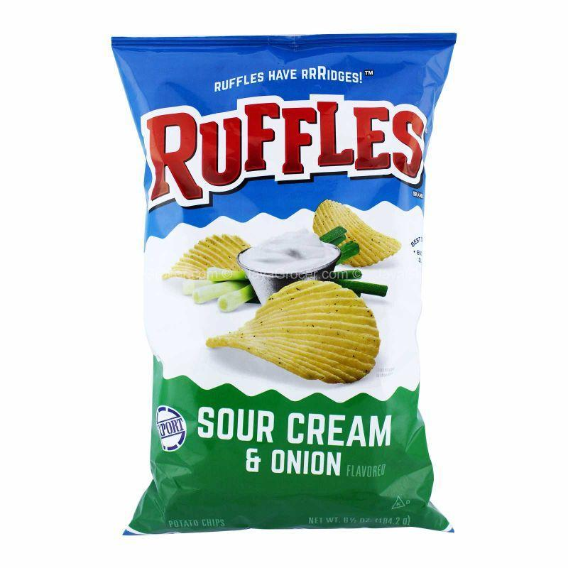 Ruffles Sour Cream & Onion Flavoured Potato Chips 184g