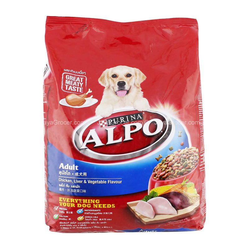 Purina Alpo Adult Dog Chicken, Liver and Vegetable Flavor Dog Food 3kg