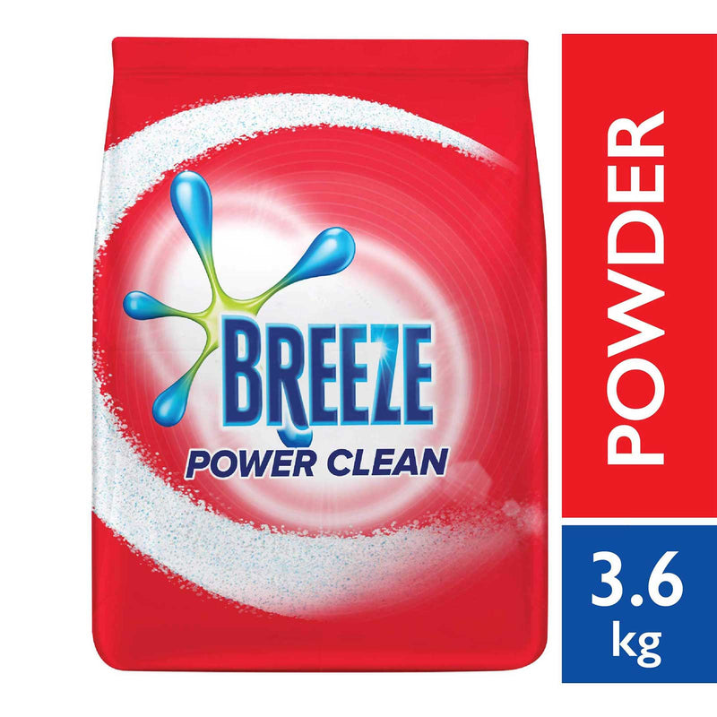 Breeze Detergent Powder Power Clean 3.6kg