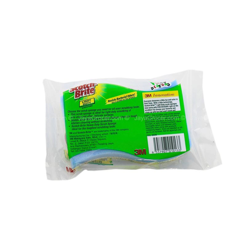 Scotch-Brite Light Duty Scrub Sponge 1pc