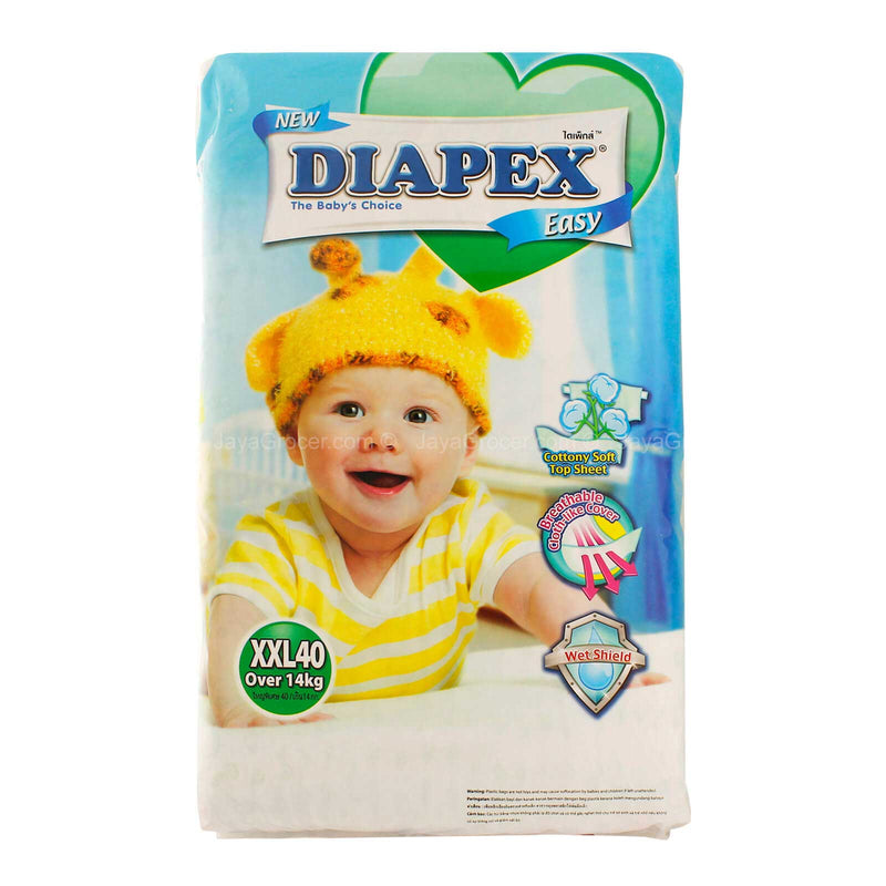 Diapex Easy Baby Diapers XXL Size 40pcs