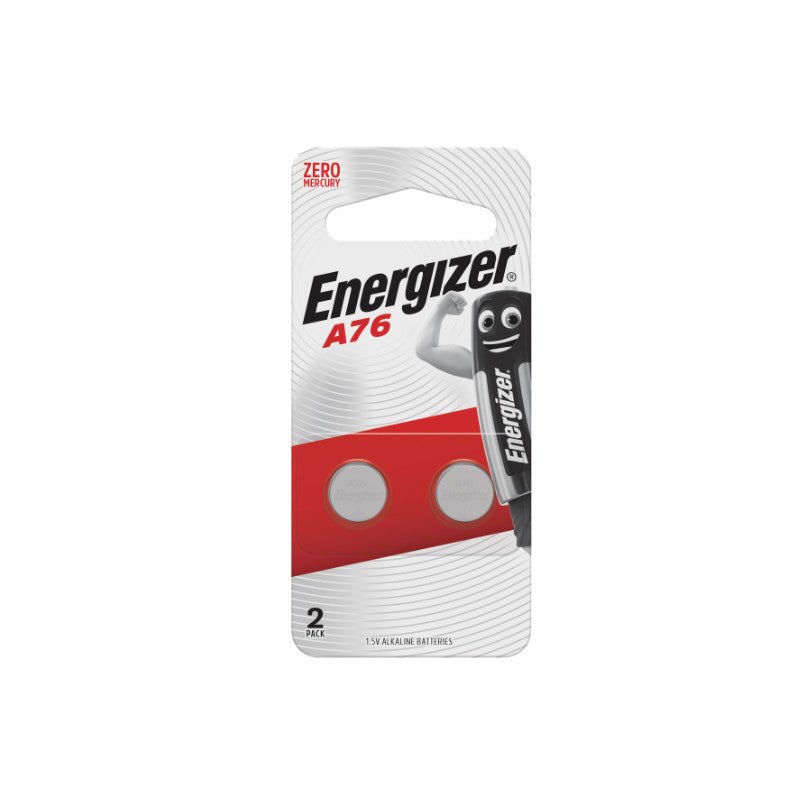 Energizer A76/LR44 L.5V Alkaline Batteries 2packs