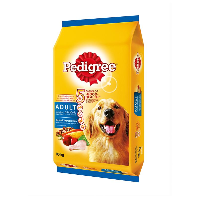 Pedigree Adult Dog Chicken and Vegetable Flavored Dog Food 10kg