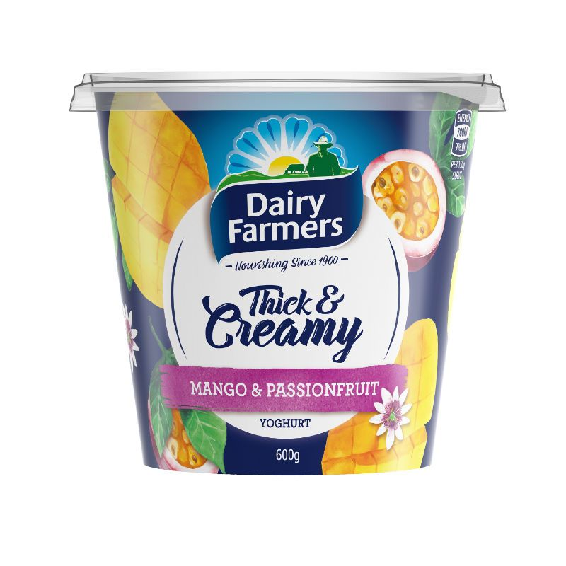 Dairy Farmers Thick & Creamy Mango and Passionfruit Yoghurt 600g