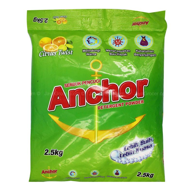 Anchor Detergent Powder Citrus Twist 2kg